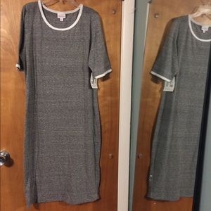 NWT LuLaroe Julia gray dress